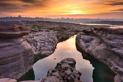Sunrise at canyon Royalty Free Stock Image