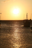 Sunset in the Caribbean Stock Photography