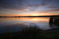 Sunset Duralia Lake Penrith Royalty Free Stock Photography