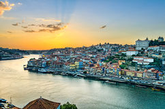 Sunset in Porto, Portugal Royalty Free Stock Image