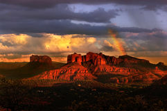 Sunset in Sedona Royalty Free Stock Images