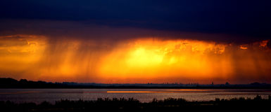 Sunset after storm Stock Image