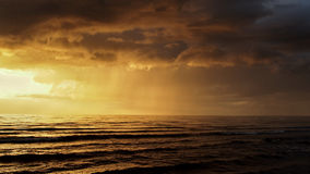 Sunset and clouds after storm Royalty Free Stock Image