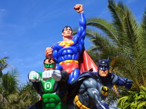 Superman , Green Lantern and Batman sculptures Royalty Free Stock Image