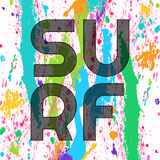 Surf typography, t-shirt graphics. Vector illustration Royalty Free Stock Image