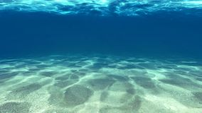 Surface of the sand under water Royalty Free Stock Photography