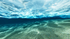 Surface of sand under water Royalty Free Stock Image