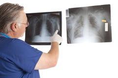 Surgeon and x-rays Stock Image