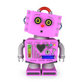 Surprised toy robot girl Stock Photography