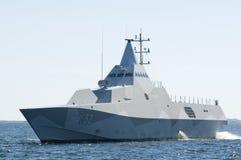 Swedish corvette HMS Helsingborg Stock Image
