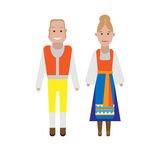 Swedish national costume Royalty Free Stock Photo