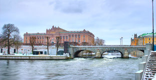 Swedish Parliament in Stockholm Royalty Free Stock Photography