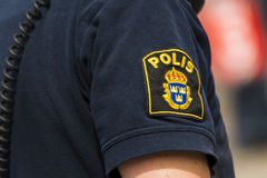 Swedish textile police badge Royalty Free Stock Photo
