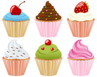 Sweet Cupcakes Collection Royalty Free Stock Photo