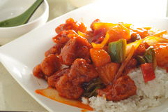 Sweet sour pork Royalty Free Stock Images