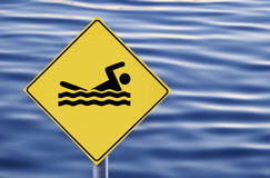 Swimming allowed Royalty Free Stock Photography