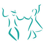 Swing dance. Stock Photos