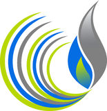 Swirl flame logo Stock Images