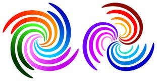 Swirl logos Royalty Free Stock Photography