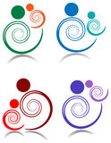 Swirl parent and baby Royalty Free Stock Photo