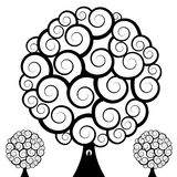 Swirl Tree Owl Royalty Free Stock Image