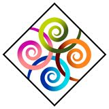Swirls in square Stock Photography