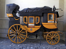 Swiss historic carriage  in Zurich, Switzerland Royalty Free Stock Photo