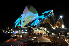 Sydney Opera House Vivid Royalty Free Stock Images