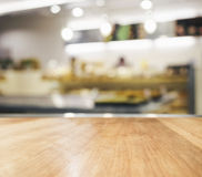 Table top with blurred kitchen background Stock Photography