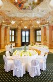 Tables set for a special occasion Stock Photography