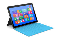 The tablet PC with a surface keyboard Royalty Free Stock Image
