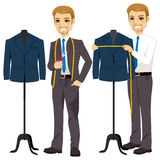 Tailor Measuring Bust Stock Images