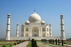 Taj Mahal Blue Sky, Reis aan Agra, India Stock Foto's