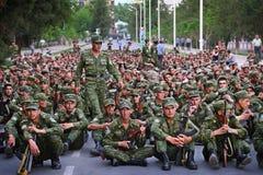 Tajikistan: Military parade in Dushanbe Stock Image