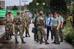 Tajikistan: Military parade in Dushanbe Royalty Free Stock Photo