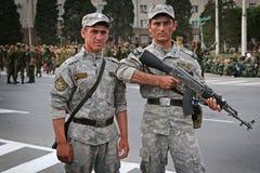 Tajikistan: Military parade in Dushanbe Royalty Free Stock Image