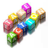 Take action words Stock Photography