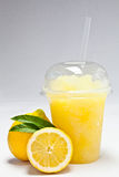 Take away cold iced with fruit flavour Stock Photo
