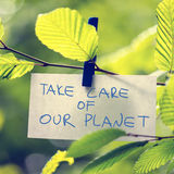 Take Care of our Planet Royalty Free Stock Photo