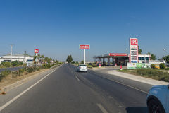 Tankstelle Lukoil Lizenzfreie Stockfotografie