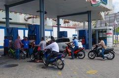 Tankstelle am Mann Lizenzfreie Stockfotografie
