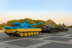 Tanque no território do museu da guerra em Kiev Fotografia de Stock Royalty Free