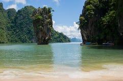 Tapu-Insel an Phangnga-Bucht (James Bond Island) Stockfotos
