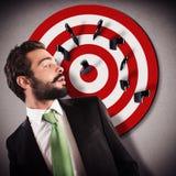 Target businessman Stock Photography