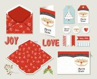 Tarjeta de felicitación imprimible determinada de la Feliz Navidad linda Foto de archivo
