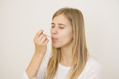 Tasting remedy in spoon Stock Image