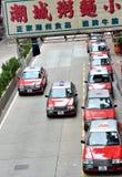 Taxigeschäft in Hong Kong Stockfotos