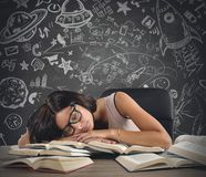 Teacher of astronomy Royalty Free Stock Images