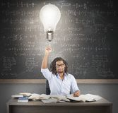 Teacher brilliant idea Royalty Free Stock Images