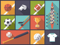 Team Sports Flat Design Icons Vector Illustration Stock Images